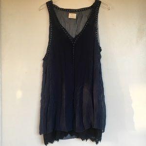 Pins & Needles - Layered Eyelet Lace Slip Dress